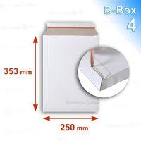 ENVELOPPE Lot de 50 Enveloppes carton B-Box 4 BLANC format 2