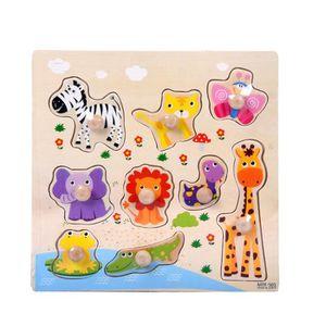 PUZZLE 9 pièces en bois heureux Zoo Puzzle d'apprentissag