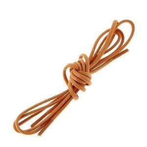 LACET  lacets ronds coton ciré couleur Orange: Taille:  7