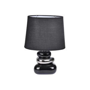 LAMPE A POSER Lampe 3 Galets noir et argent