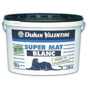 Dulux Valentine Valplafond Supermat 10l Blanc Achat Vente