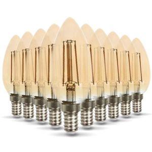 AMPOULE - LED Lot de 10 Ampoules LED E14 ambrée 4W eq 40W 350lm