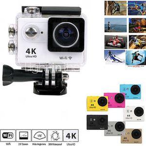CAMÉSCOPE NUMÉRIQUE caméra sport ultra HD 4K grise wifi étanche 30 mét