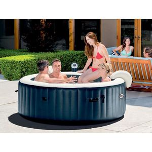 SPA COMPLET - KIT SPA Spa gonflable Intex PureSpa rond Bulles 6 places B