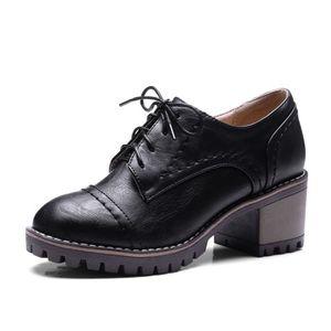 f80c6be6202d2e RICHELIEU Oaleen Chaussures de ville femme rétro à lacets de