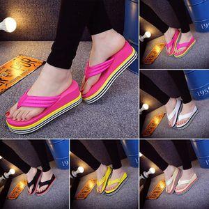 XZ847B5XZ847B5femmeépais Summer Fashion Wedge Pantoufles Sandales fond flip flops Chaussures de plage H0dRV