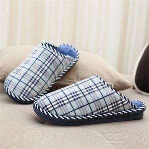 Treillis Chausson Hommes Coton Meilleure Qualité Chausson Nouvelle Mode Peluche chaussure Plus De Couleur Taille 40-45 AuRLBAicj