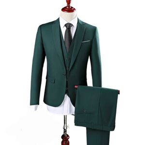 Costume Homme Formel 3 Pièces Un Bouton Business Mariage Slim Fit Blazer  Mode Elégant Classique Smoking aa55b82da96