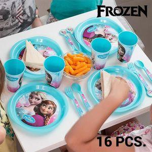 SERVICE COMPLET Vaisselle pour enfants Frozen (16 pièces) - Planet