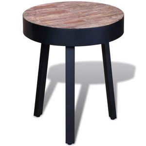TABLE D'APPOINT Table d'appoint ronde vintage en Teck recyclé Arti