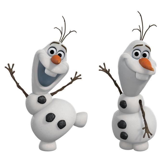 Stickers muraux la reine des neiges olaf achat vente - Olaf de la reine des neige ...