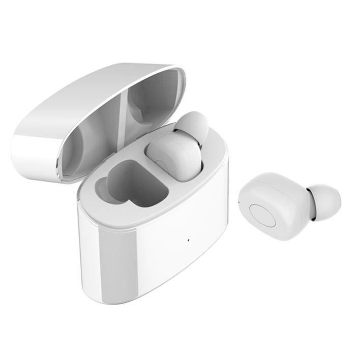 Écouteurs Bluetooth 5.0 Sans Fil Sport Étanche Stéréo T6s De Charge Autonomie 500 Mah (blanc)