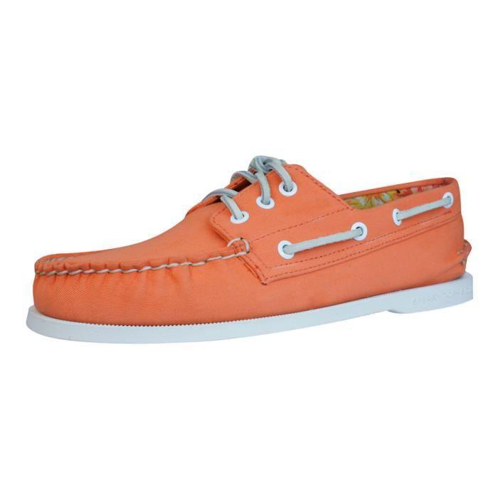 Sperry Top Sider A-O 3 Eye Canvas Chaussures bateau Hommes - orange Orange 6.5