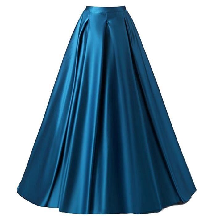 maxi jupe trap ze femme longue de soir e turquoise r tro vintage taille haute princesse swing en. Black Bedroom Furniture Sets. Home Design Ideas
