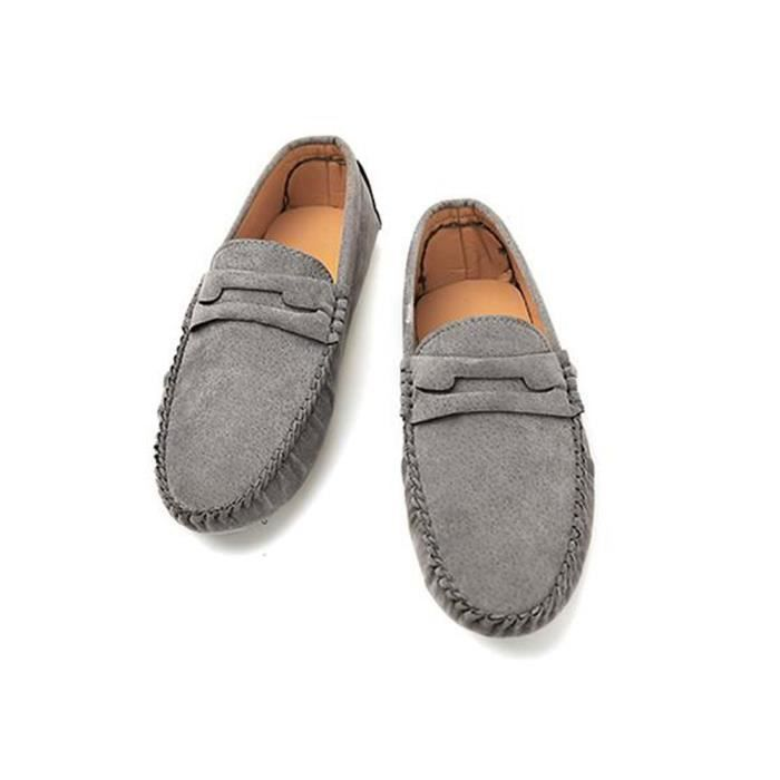 Casual Hommes Driving Mocassin Chaussure Nubuck - KIANII® Gris Hlh6r
