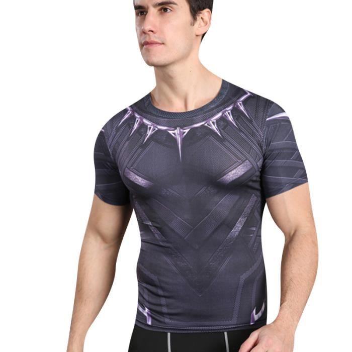 Homme Exercice De Remise en Forme Respirant été Manche Courte T shirt Tops  Wicking Imprimés 3D T-shirts Hommes fitness a2dab4f2b98
