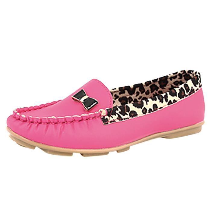 Leopard Ballet Oisif En Talon Plat Casual Slip Féminine Veberge Mode 6266 Chaussures Dolly Cuir on RSw5UHq