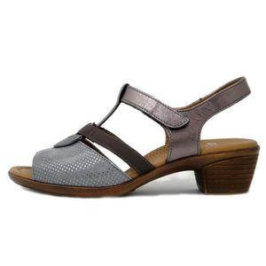 e7025e9f9c1006 ... SANDALE - NU-PIEDS ARA, sandale femme, nubuck et cuir bronze-gris ...