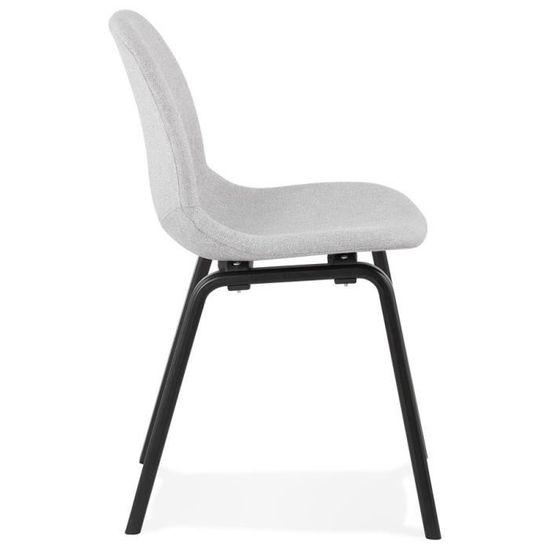 salle 'CELTIK' de pieds Chaise en manger bois tissu à noir en clair et gris drhtQs