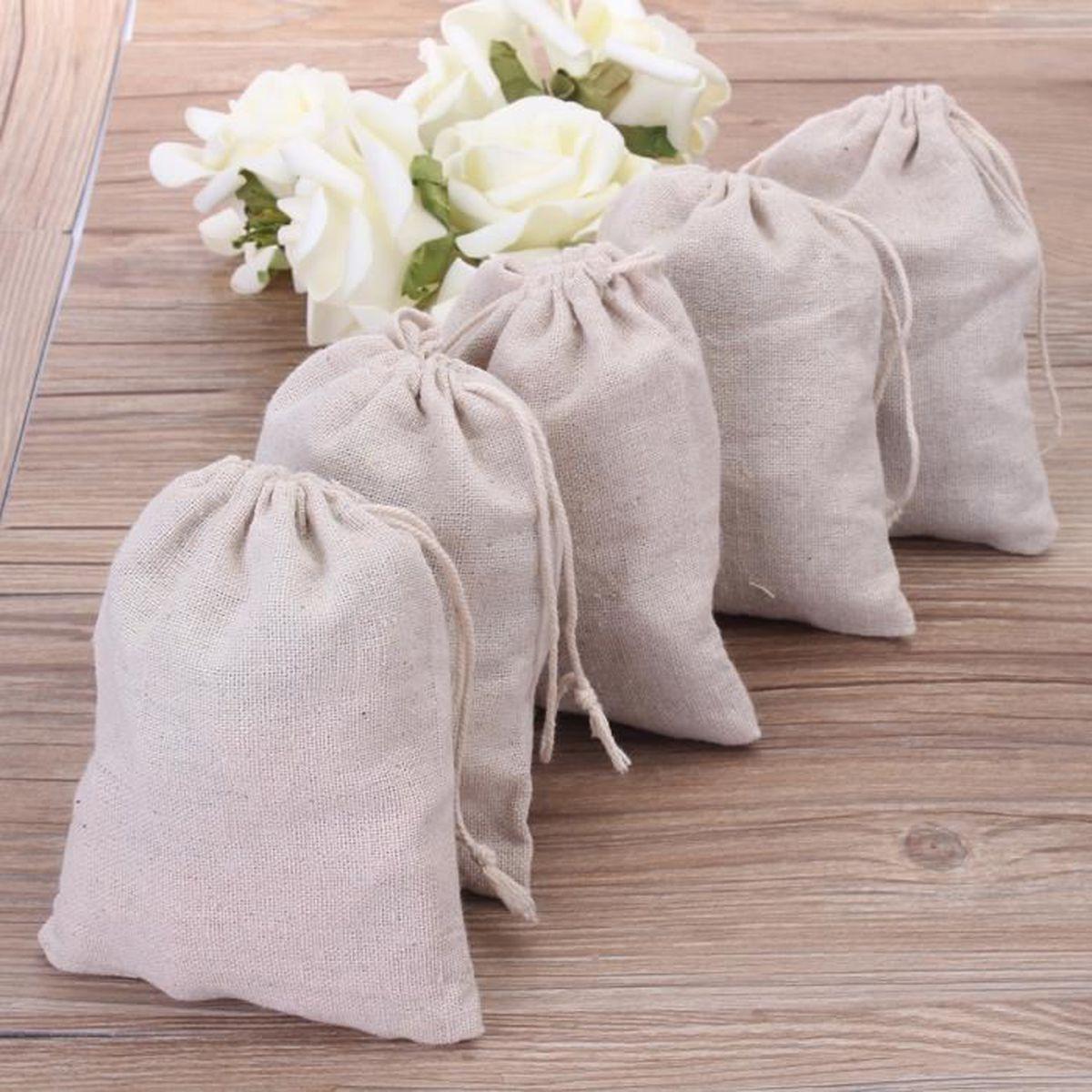 tempsa 5pcs sac de mariage cadeaux bonbons en coton lin - achat