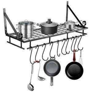 ETAGÈRE MURALE Etagère de cuisine égouttoir et porte-casseroles,