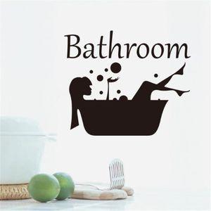 RIDEAU DE DOUCHE Salle de bains douche amovible fille mur autocolla