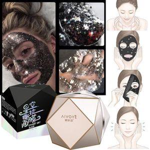 MASQUE VISAGE - PATCH Glitter Peel Off étoiles Masque Noir Anti vieillis