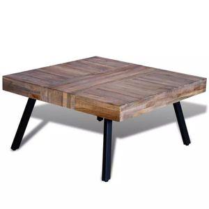 TABLE BASSE R24 Cette table basse exotique en bois de teck de