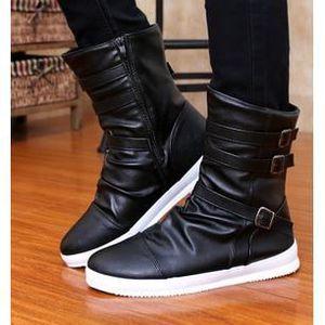Automne Bottes à fond chaussures élevées version coréenne de chaussures pour les Hommes britanniques, noir 41