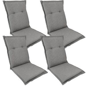 Coussins 42 x 42 cm avec bande en Gris Coussin Coussins de chaise Madison coussins NEUF