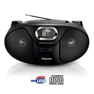 Radio Lecteur K7 CD et MP3 PHILIPS AZ385 NOIR