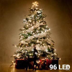 9cf186799bd3d GUIRLANDE LUMINEUSE INT Lumières Blanches de Noël (96 LED)