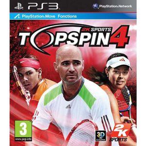 JEU PS3 PS3 TOP SPIN 4 + 2 RAQUETTES
