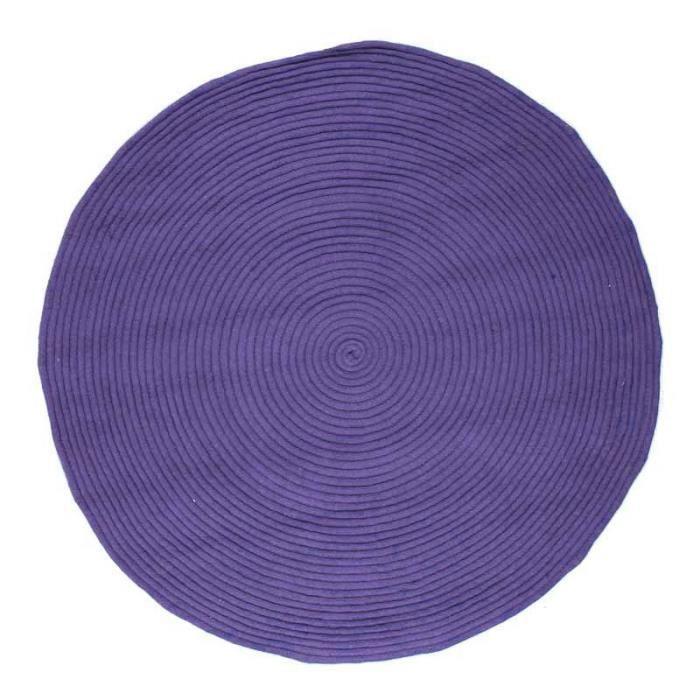 En coton diam 120cm bleu corse 357 - Réversible et facile d'entretienTAPIS - DESSOUS DE TAPIS
