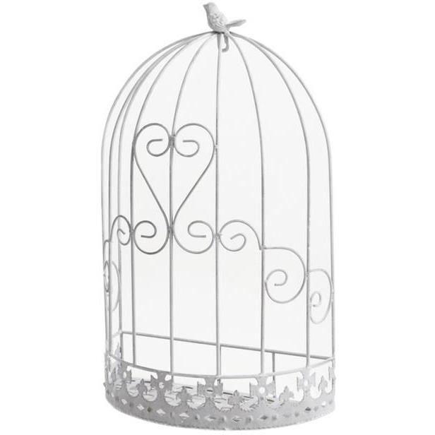 Cage murale d co oiseau en m tal 32x17x53cm achat vente voli re cage oiseau cage murale - Dessin oiseau en cage ...