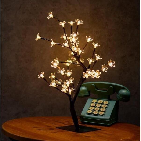 36 Tetes De Fleurs De Cerisier Arbre Nuit Lumieres Salon Arbre Lampe