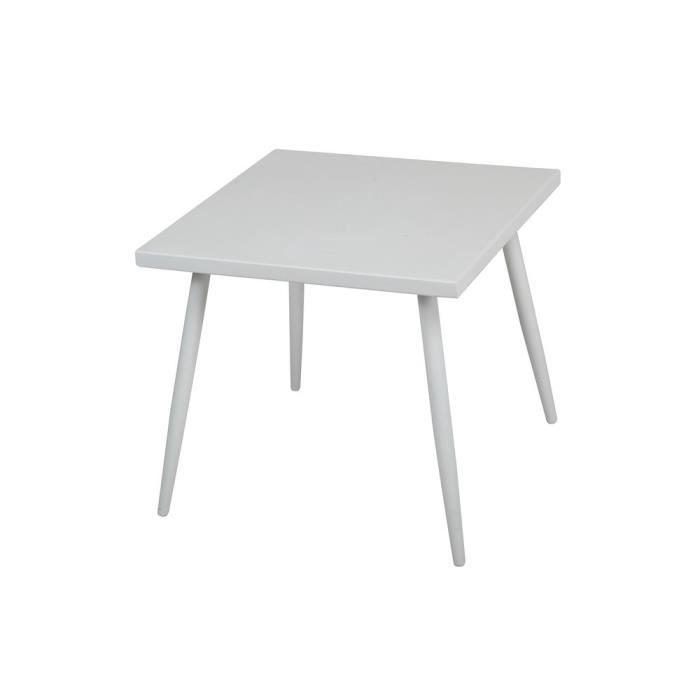 Basse Aluminium Table En Gris Carrée 50x50 Cm D2H9EI