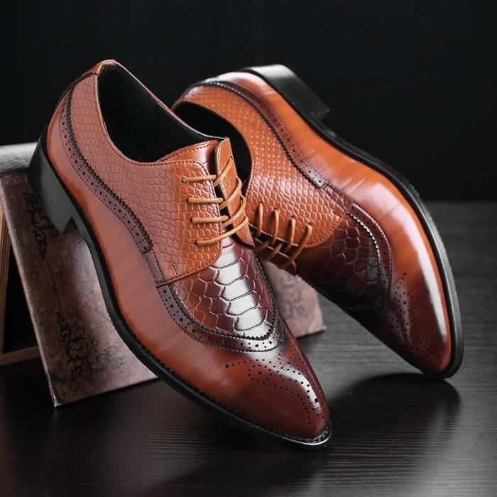 Pointe Mode Homme Britannique Style Richelieu Haute Qualité Cuir P6EqwOxOC