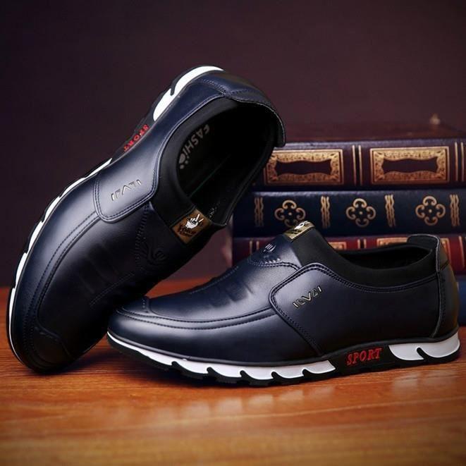 Les Hommes De Mode En Cuir Décontracté Chaussures Bottes En Cuir De Cheville En Plein Air Conduisant Des Mocassins 2sF65SRJ