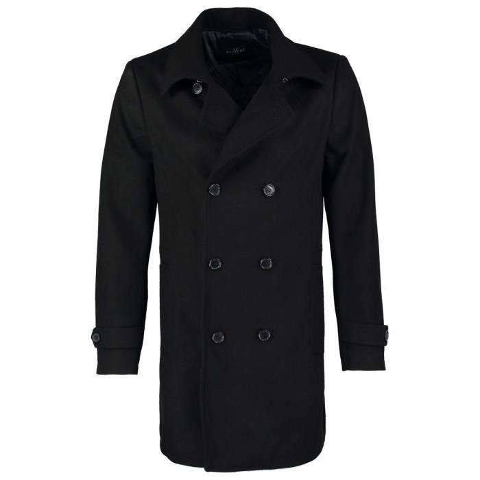 Manteau Taille Winter Gris xl Caban 1r1xjr De Bleu Style Double Hommes Noir  Pour Ou W ... c381369742c