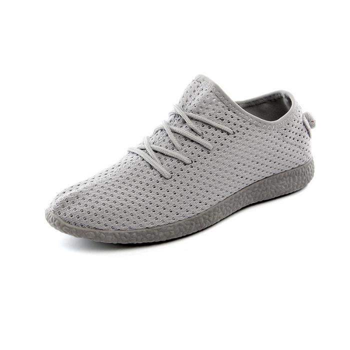 Chaussures Gris Chaussure Noix noir Plate De Boys Sneaker Sport Gris 39 Homme Coco Basket Respirante Mode qx7AwYq0