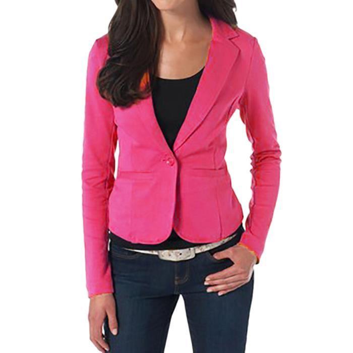 Veste Costume Outwear Femmes Bouton Slim Yini359 Manches Longues Office Blazer Manteau Tops Lady 11cw4zxqC6