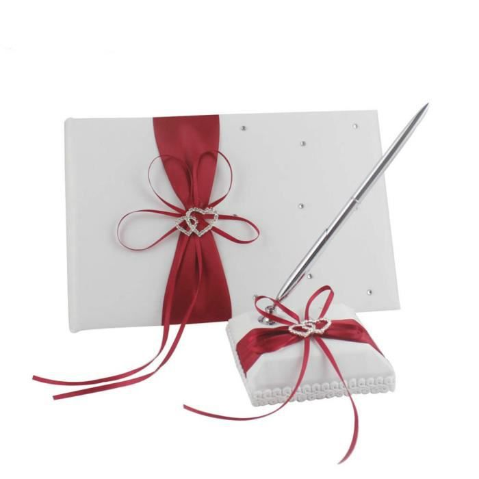livre d or mariage rouge achat vente pas cher. Black Bedroom Furniture Sets. Home Design Ideas