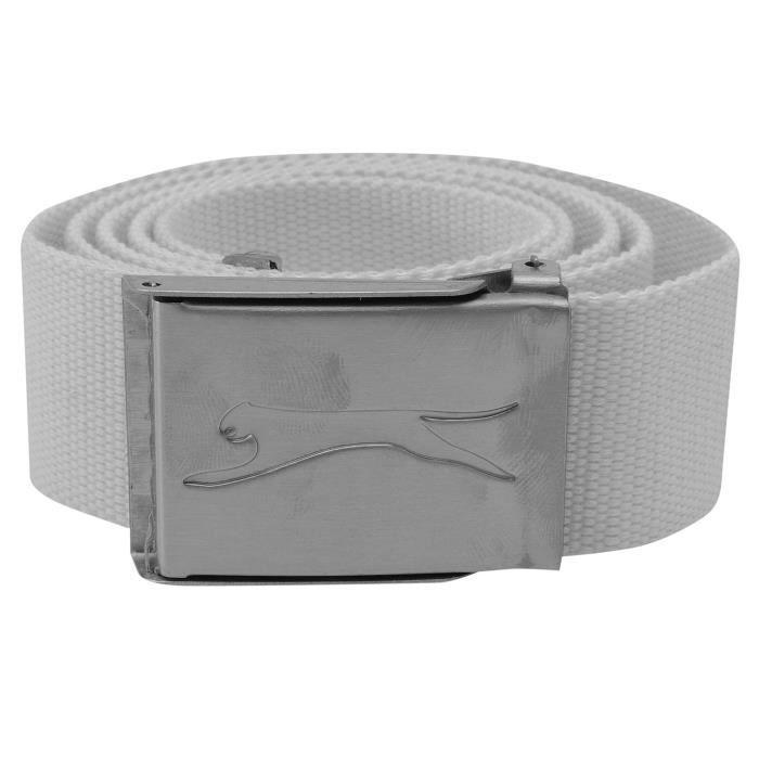 Slazenger Ceinture Sangle Homme Blanc - Achat   Vente ceinture et ... fd70e04e001