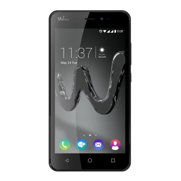 wiko freddy smartphone d bloqu 4g noir achat smartphone pas cher avis et meilleur prix. Black Bedroom Furniture Sets. Home Design Ideas
