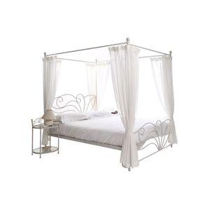 lit baldaquin 160 achat vente pas cher. Black Bedroom Furniture Sets. Home Design Ideas