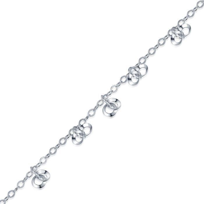 MBLife Perles Bracelets Bracelet Femme Fille Bijoux Argent Sterling 925 (6.5 Pouces)