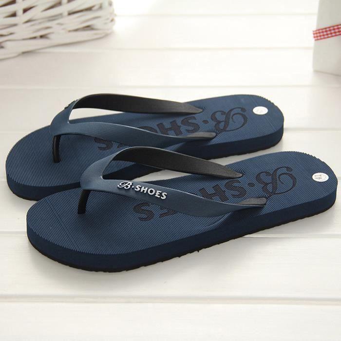 ou Les sandales extérieure hommes mâles tongs pantoufles chaussures d'été intérieure Bleu fwH0Bfxq