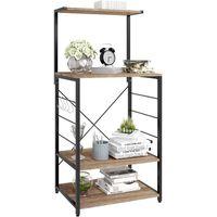 WOLTU Étagère four à micro-ondes,étagère de cuisine en bois massif et cadre avec de l'acier,60x40x123cm