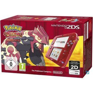 CONSOLE 2DS 2DS Transparente Rouge + Pokemon Rubis Oméga